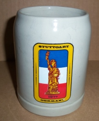 Stuttgart Germany Beer Stein [object object] Home stuttgartgermany1977stein
