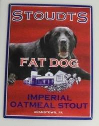 Stoudts Fat Dog Tin Sign [object object] Home stoudtsfatdogtin