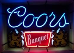Coors Banquet Beer Neon Sign