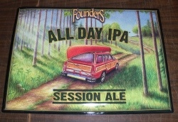 Founders All Day IPA Tin Sign [object object] Home foundersalldayipatin