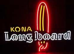 Kona Longboard Beer Neon Sign [object object] Home konalongboard2012