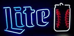 Lite Beer Baseball Neon Sign