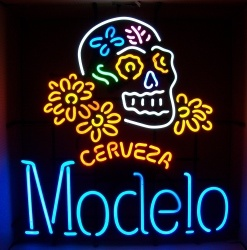 modelo cerveza skull neon sign beer sign collection My Beer Sign Collection 2 – Not for sale but can be bought… modelocervezaskull