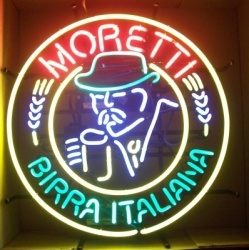 moretti birra man neon sign beer sign collection MY BEER SIGN COLLECTION 2 – Not for sale but can be bought… morettibirrsitaliana