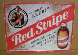 Red Stripe Beer Tin Sign [object object] Home redstripetin
