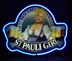 St Pauli Girl Beer Neon Sign [object object] Home stpauligirlpanel2001