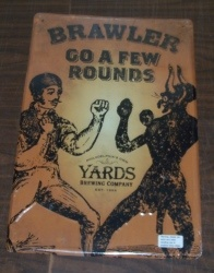 Yards Brawler Ale Tin Sign [object object] Home yardsbrawlertin