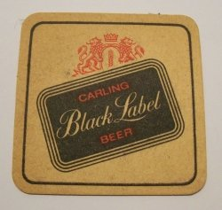 Black Label Beer Coaster
