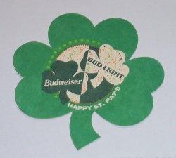 Budweiser Shamrock Coaster budweiser shamrock coaster Budweiser Shamrock Coaster budweiserbudlightshamrockrear