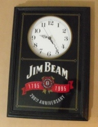 Jim Beam Whiskey Clock
