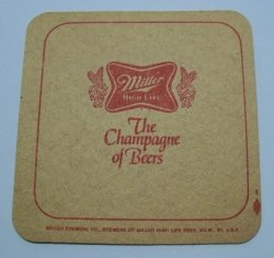 Miller High Life Beer Coaster miller high life beer coaster Miller High Life Beer Coaster millerhighlifechampagnerear