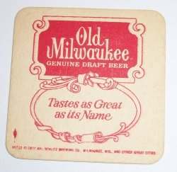 Old Milwaukee Beer Coaster old milwaukee beer coaster Old Milwaukee Beer Coaster oldmilwaukee1972