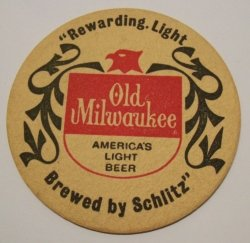 Old Milwaukee Beer Coaster