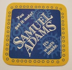Samuel Adams Beer Coaster
