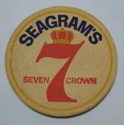 Seagrams 7 Crown Whiskey Coaster