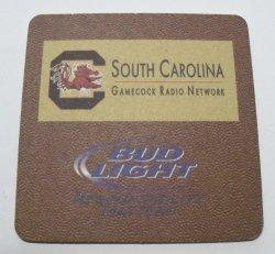 Bud Light Beer Gamecock Coaster