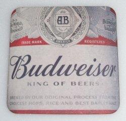 Budweiser Beer Coaster