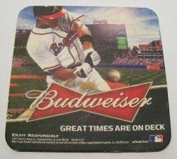 Budweiser Beer Atlanta Braves Coaster