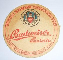 Budweiser Budvar Coaster