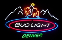 Bud Light Beer Denver Neon Sign  MY BEER SIGN COLLECTION – Not for sale but can be bought… budlightdenver