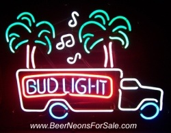 Bud Light Beer Music Truck Neon Sign  MY BEER SIGN COLLECTION – Not for sale but can be bought… budlightmusictrucknos