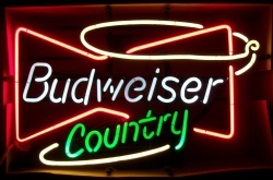 MY BEER SIGN COLLECTION – Not for sale but can be bought… budweisercountry