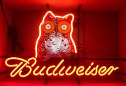 Budweiser Beer Hooters Neon Sign  MY BEER SIGN COLLECTION – Not for sale but can be bought… budweiserhooters e1591315972993