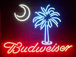 Budweiser Beer Palmetto Neon Sign  MY BEER SIGN COLLECTION – Not for sale but can be bought… budweiserpalmetto e1591315821439