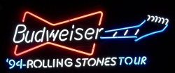 Budweiser Beer Rolling Stones Neon Sign  MY BEER SIGN COLLECTION – Not for sale but can be bought… budweiserrollingstonestour