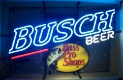 Busch Beer Bass Pro Shops Neon Sign  MY BEER SIGN COLLECTION – Not for sale but can be bought… buschbeerbassproshops