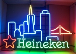 Heineken Beer San Francisco Neon Sign  MY BEER SIGN COLLECTION – Not for sale but can be bought… heinekensanfran