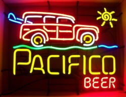 Pacifico Beer Woody Wagon Neon Sign beer sign collection My Beer Sign Collection 2 – Not for sale but can be bought… pacificobeerwoodywagon