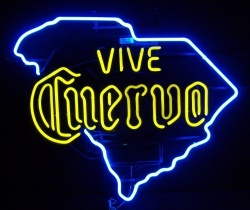 Cuervo Tequila South Carolina Neon Sign  MY BEER SIGN COLLECTION – Not for sale but can be bought… vivecuervosc
