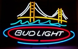 Bud Light Beer Golden Gate Bridge Neon Sign  MY BEER SIGN COLLECTION – Not for sale but can be bought… budlightgoldengatebridge