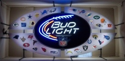 Bud Light Beer NFL All Star Neon Sign  MY BEER SIGN COLLECTION – Not for sale but can be bought… budlightnflallstar2013