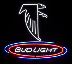 Bud Light Beer NFL Atlanta Falcons Neon Sign  MY BEER SIGN COLLECTION – Not for sale but can be bought… budlightnflatlantafalcons