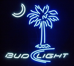 Bud Light Beer Palmetto Neon Sign  MY BEER SIGN COLLECTION – Not for sale but can be bought… budlightpalmetto3