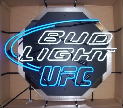 Bud Light Beer UFC Neon Sign  MY BEER SIGN COLLECTION – Not for sale but can be bought… budlightufc
