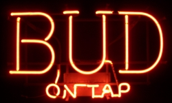 Budweiser Beer Neon Sign  MY BEER SIGN COLLECTION – Not for sale but can be bought… budontap