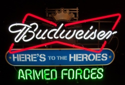 MY BEER SIGN COLLECTION – Not for sale but can be bought… budweiserarmedforces
