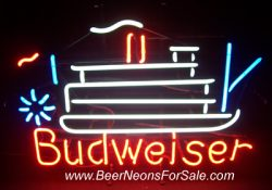 Budweiser Beer Riverboat Neon Sign  MY BEER SIGN COLLECTION – Not for sale but can be bought… budweiserriverboat e1591315565301