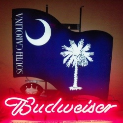 Budweiser Beer Palmetto Neon Sign  MY BEER SIGN COLLECTION – Not for sale but can be bought… budweisersouthcarolinapalmetto
