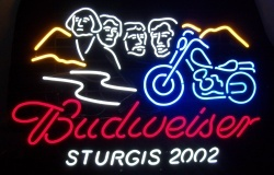 Budweiser Beer Sturgis Neon Sign  MY BEER SIGN COLLECTION – Not for sale but can be bought… budweisersturgis2002