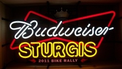 Budweiser Beer Sturgis Neon Sign  MY BEER SIGN COLLECTION – Not for sale but can be bought… budweisersturgis2011bikerally
