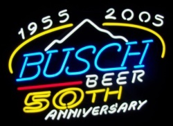 Busch Beer NASCAR Neon Sign  MY BEER SIGN COLLECTION – Not for sale but can be bought… buschbeer50thanniversary
