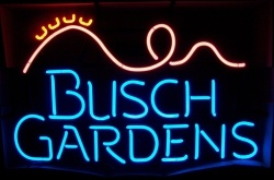 Busch Gardens Beer Neon Sign  MY BEER SIGN COLLECTION – Not for sale but can be bought… buschgardensrollercoaster