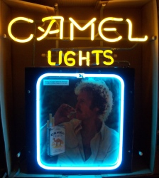 Camel Lights Cigarettes Neon Sign  MY BEER SIGN COLLECTION – Not for sale but can be bought… camellights