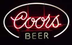 Coors Beer Neon Sign  MY BEER SIGN COLLECTION – Not for sale but can be bought… coorsbeerpinkpanel