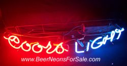 Coors Light Beer Curved Neon Sign  MY BEER SIGN COLLECTION – Not for sale but can be bought… coorslightcurved e1591816957645