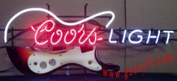 Coors Light Beer Guitar Neon Sign  MY BEER SIGN COLLECTION – Not for sale but can be bought… coorslightguitar e1591817012954